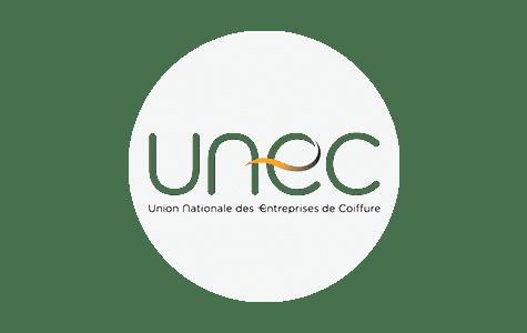 Logo de l'UNEC PACA : Union Nationale des Entreprises de Coiffure